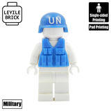 United Nations helmet and Vest With Brickarms Parts (only equipment  BA101