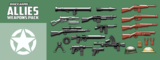 BrickArms Allies Weapons Pack  WQB16